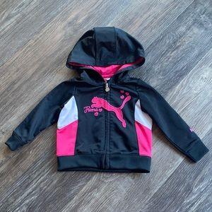 4/$20 Girls Puma Zip Up Track Jacket Sz 12 mth